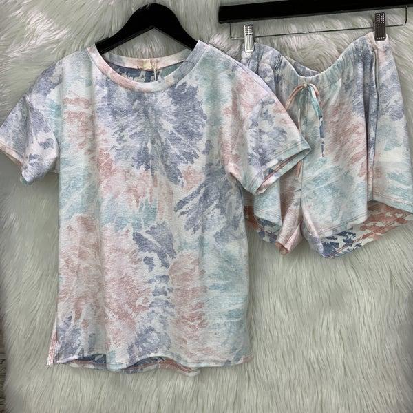 Cotton Candy Tie Dye Shorts