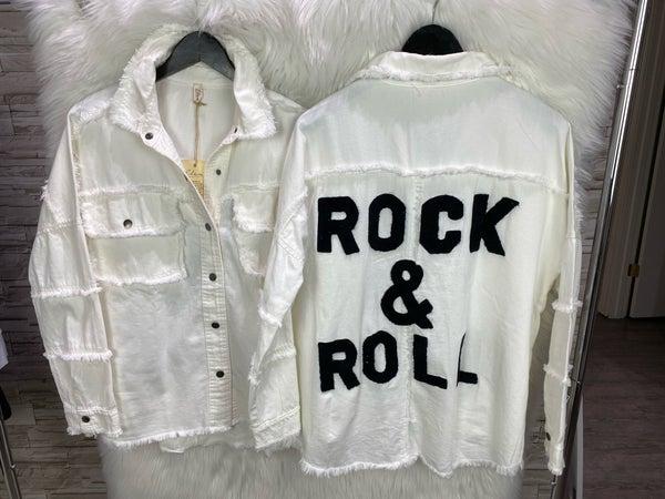 Elan Rock and Roll White Jacket