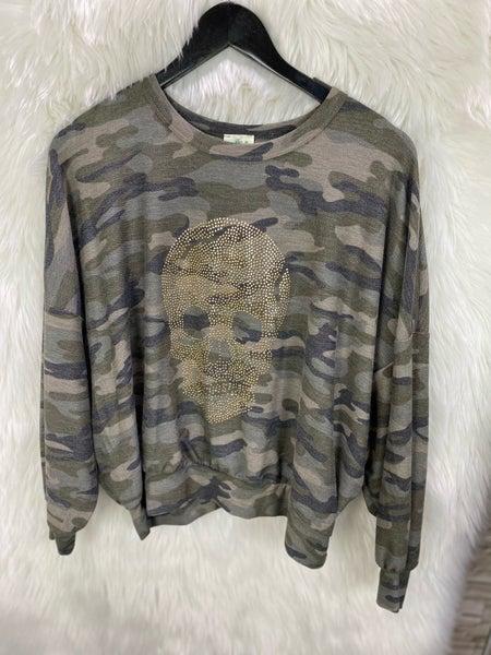 Camo Studded Sweatshirt
