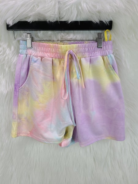 Tie Dye Light Weight Terry Knit Shorts
