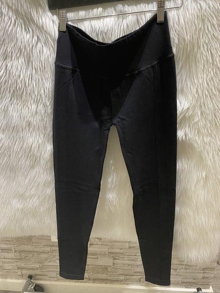 M Rena Pintucks Detail Black Legging