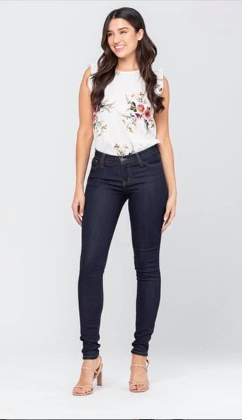 Judy Blue Dark Wash High Rise Skinny Jeans