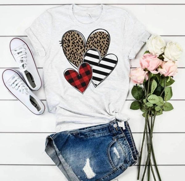 Pattern Heart Graphic T