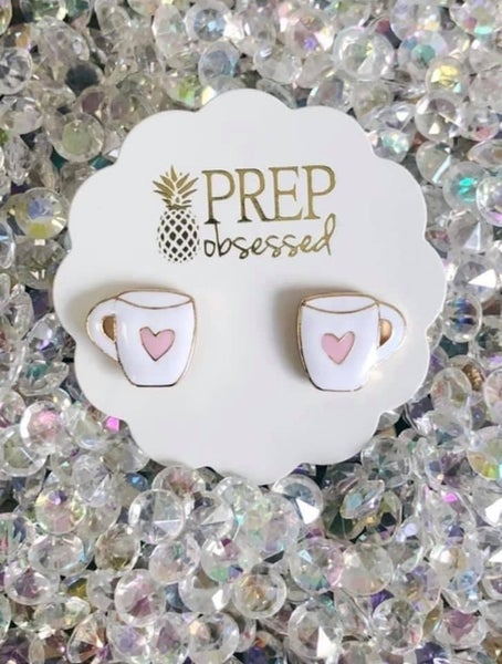 Prep Obsessed Hug in a Mug Earrings