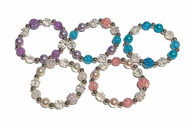 Kids Crystal Beaded Stretch Bracelets