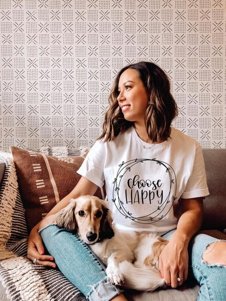 Choose Happy Graphic T