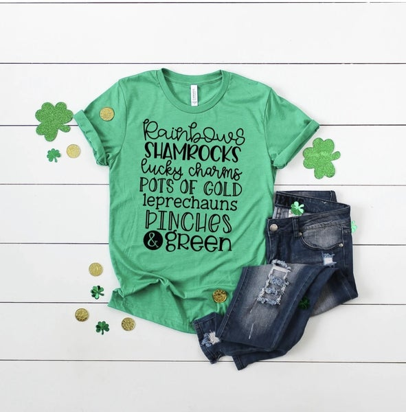 St Patrick's Day Favorites Graphic T