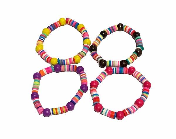 Kids Beaded Rubber Stretchy Bracelet