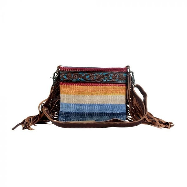 MYRA RAINBOW HAND-TOOLED BAG