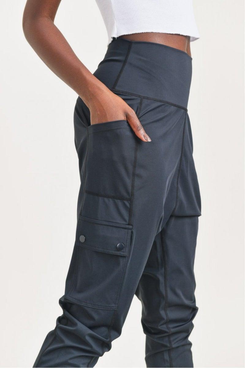 Drop Crotch Utility Lycra-Blend Pants