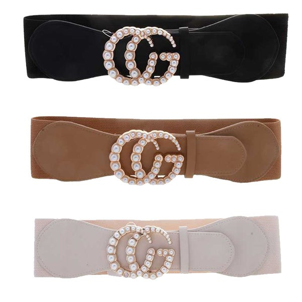 PEARL METAL BUCKLE ELASTIC BELT