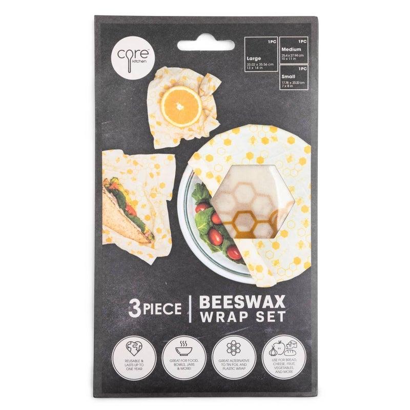 Reusable Beeswax Food Wraps (Set of 3)