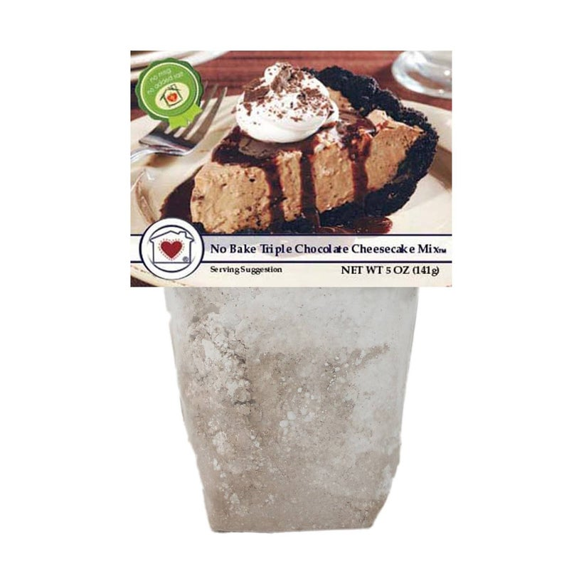 No Bake Triple Chocolate Cheesecake Mix