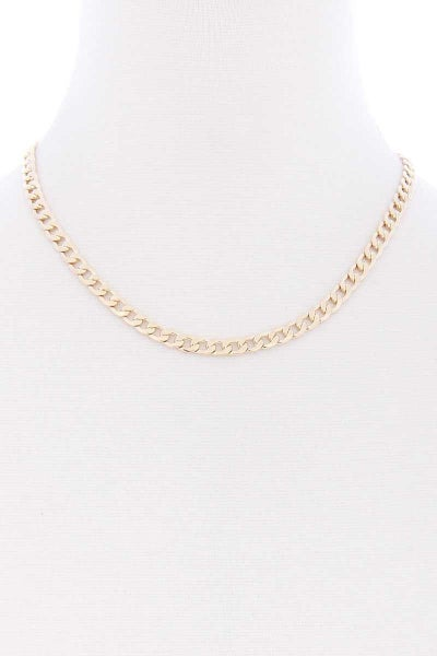 SIMPLE METAL CHAIN NECKLACE