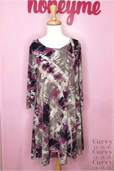 Pleasantly Purple Dress