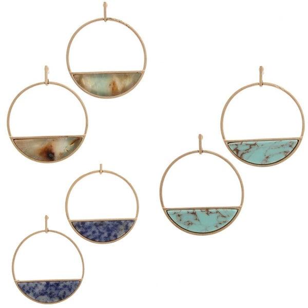 Marble magic earring