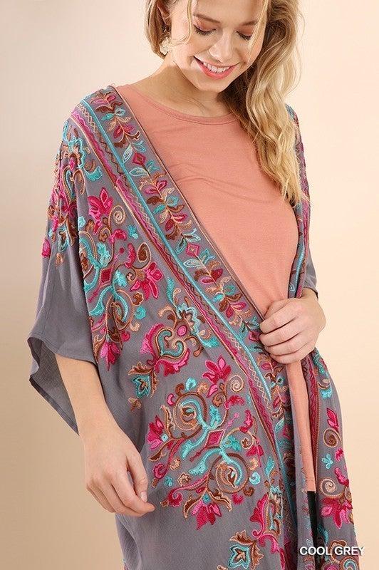 Embroidered Beauty Kimono