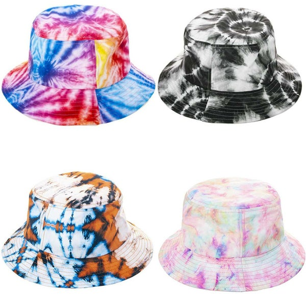 MULTI COLORED TIE DYE BUCKET HAT