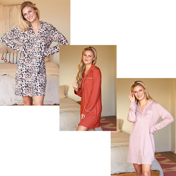 Button Me Up Pajama Dress
