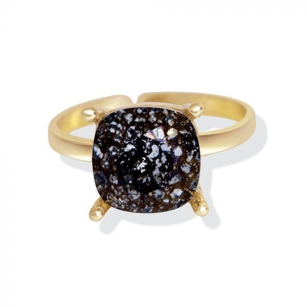 Black forest swarovski ring