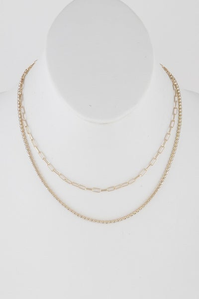 Simple Beads Multi Strand Necklace