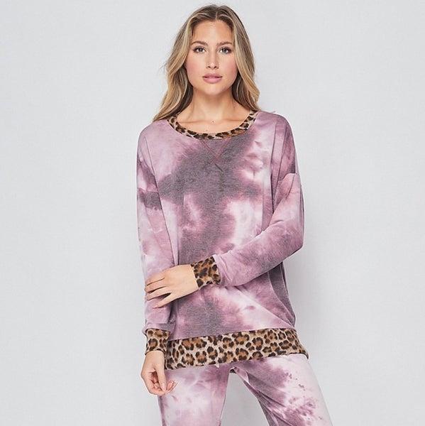 Lilac Meets Leopard Top