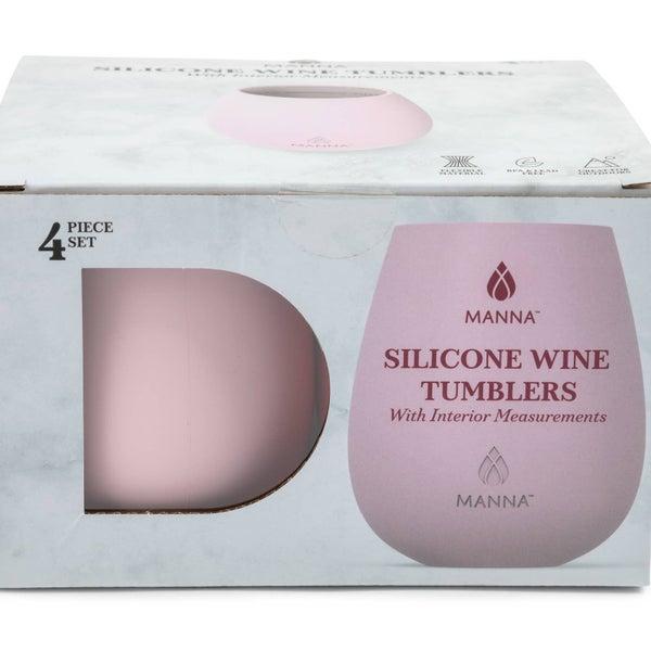 (4) 14oz SILICONE WINE TUMBLERS