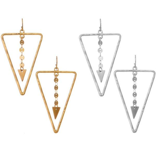 Metal Triangle Earrings