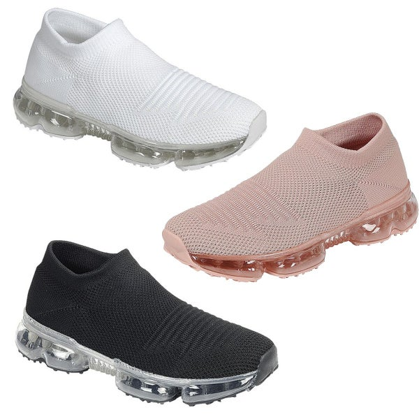 FLY KNIT LACELESS SLIP ON SNEAKERS