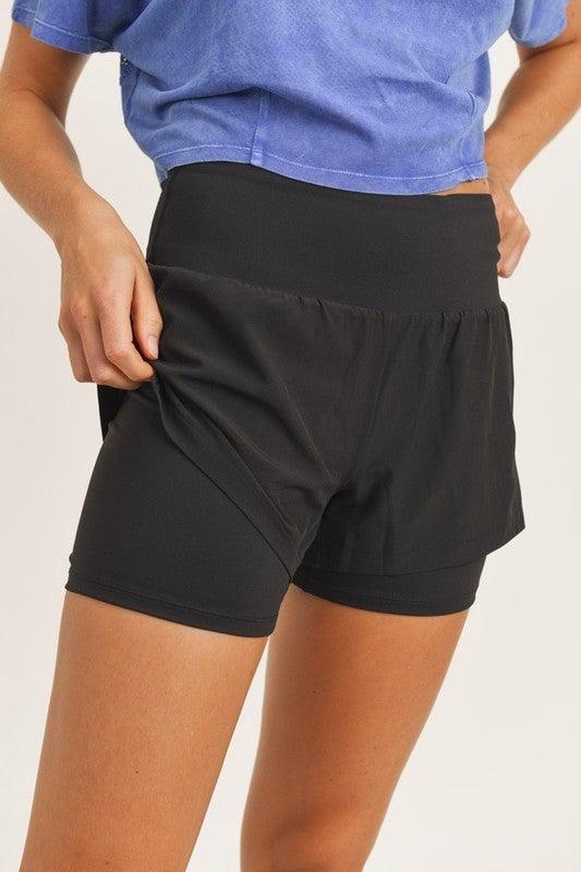 Highwaist Double-Layered Shorts