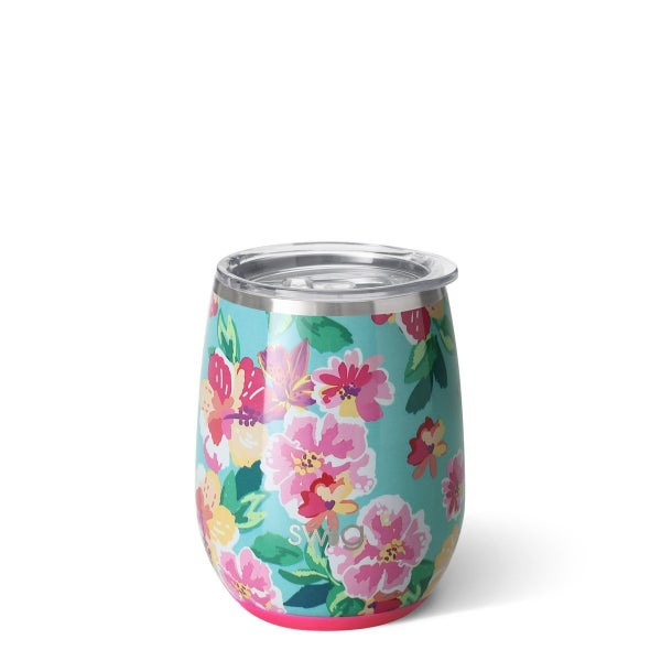 Island Bloom Stemless Wine Cup (14oz)