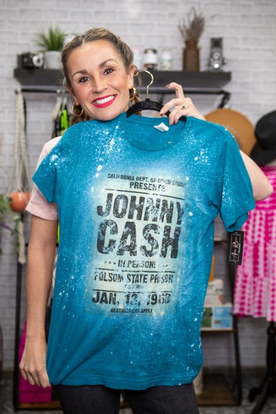 Johnny Cash Bleach Graphic T