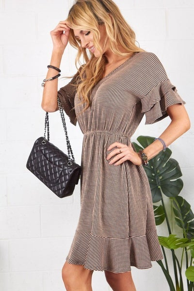 Stripe Cordy Dress