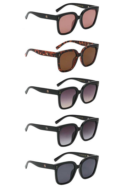BARREL ROUNDED SQUARE SUNGLASSES