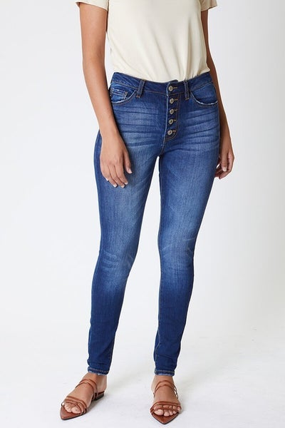 KanCan High Rise Button Fly Curvy Fit Jeans