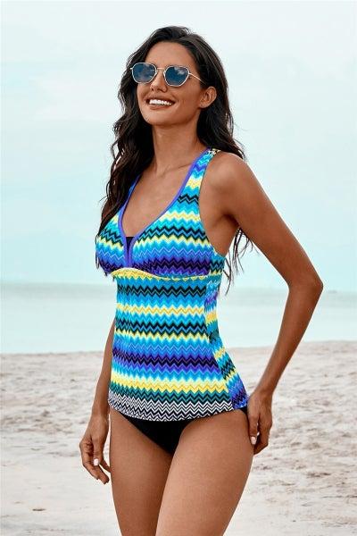 Chevron Tankini Swimsuit