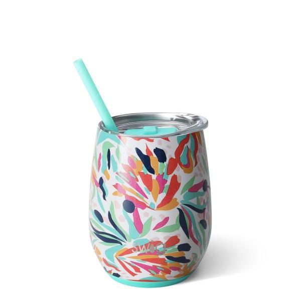Wild Flower Swig 14oz Stemless Wine Cup