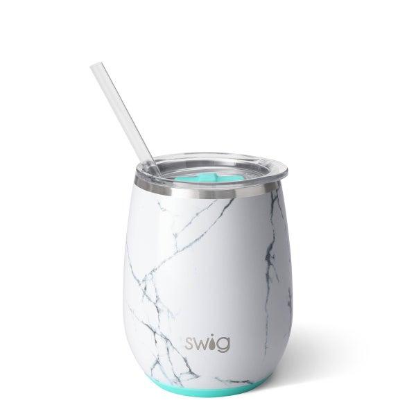 Marble Slab Swig 14oz Stemless Wine Cup