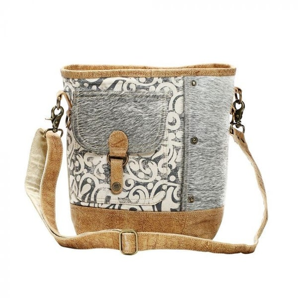 HAIRON FLAP POCKET MYRA SHOULDER BAG