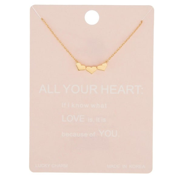 Lucky Charm Heart Necklace