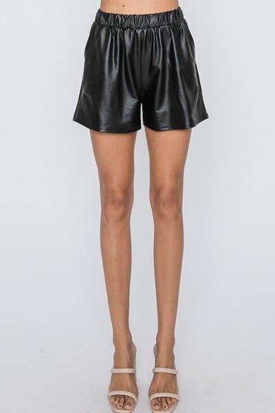 Faux Leather Hottie Short