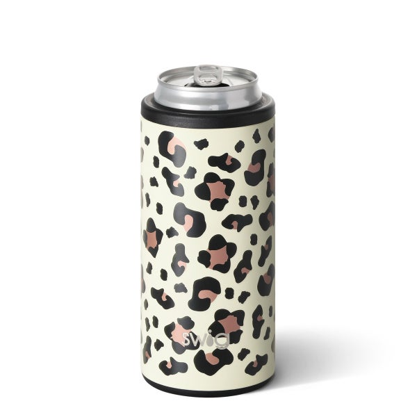 Luxy Leopard Swig 12oz Skinny Can Cooler