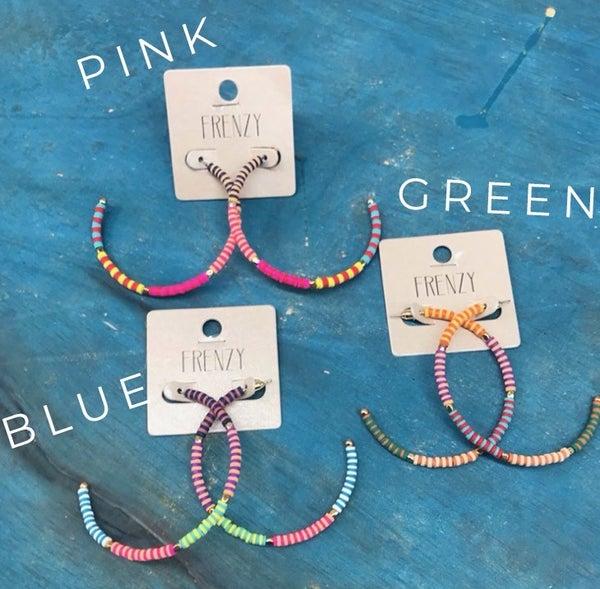 Colorful Hoop Earring
