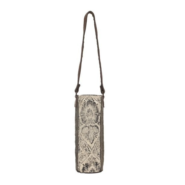 Myra Floral Print Canvas Wine Bag