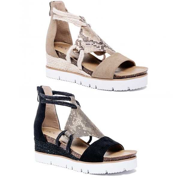 Corky's Browning Wedge Sandal