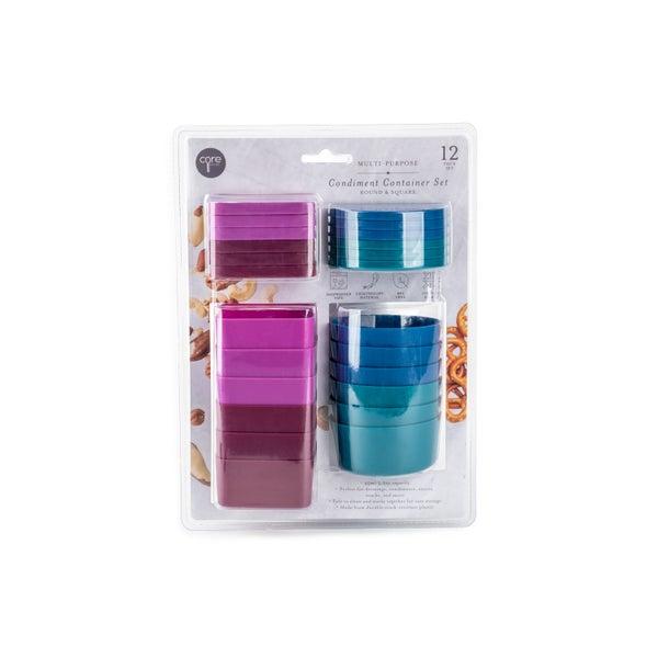 Mini Condiment Container 12 Piece Set