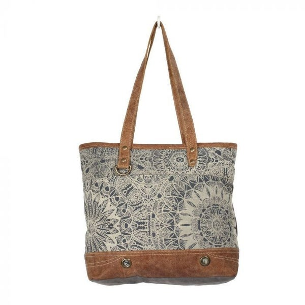 OBJET D'ART LEATHER STRIP TOTE MYRA BAG