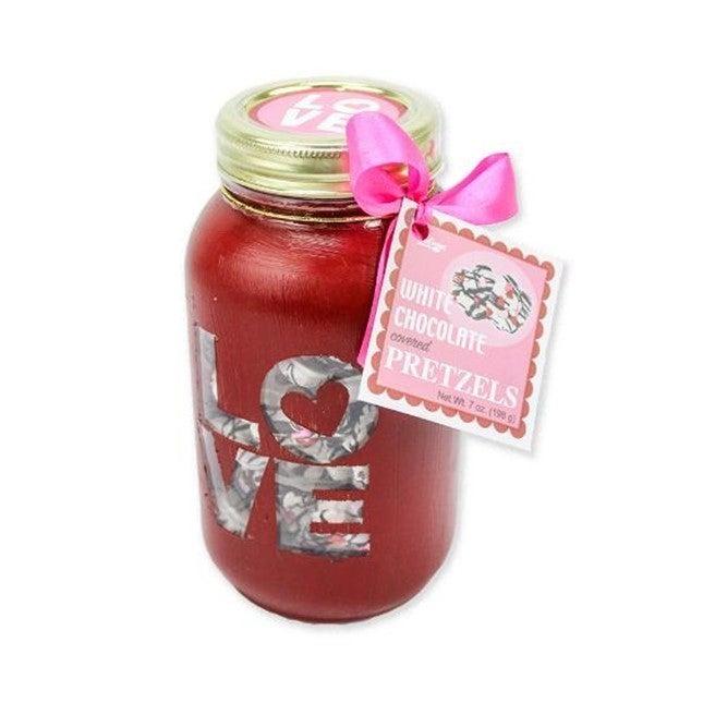 Valentine's Pretzel Jars