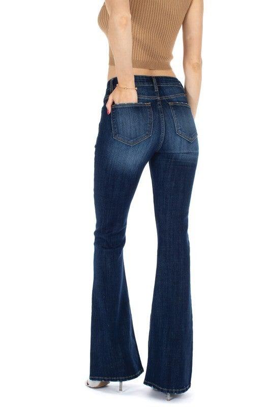 Kancan Mid Rise Flare Jean