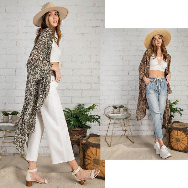 Leopard Babe Kimono